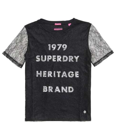 G60002BQ | Superdry Lace Graphic T-shirt