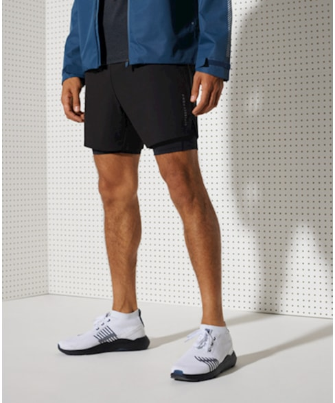 MS310158A   Superdry Dubbellaagse short