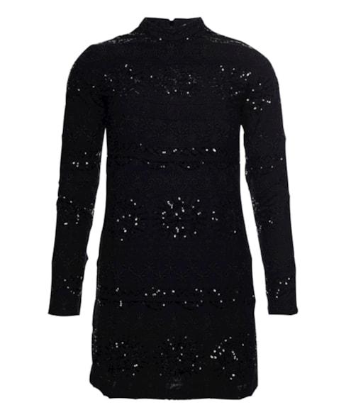 W8010413A | Geborduurde Shift jurk