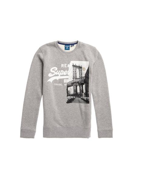 M2010424B | Vintage Logo sweatshirt met NYC en foto