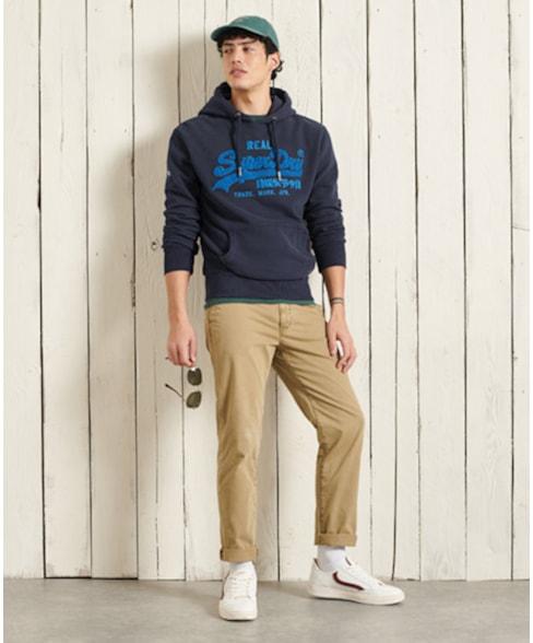 M2011142A | Superdry Vintage Logo chenille hoodie