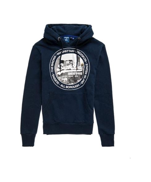 M2010433B | Vintage Logo NYC hoodie met fotoprint
