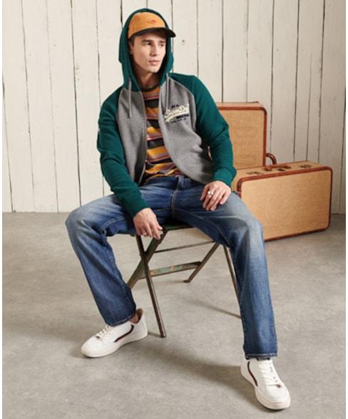 M2011145A | Superdry Vintage Logo Duo hoodie met raglanmouwen en rits