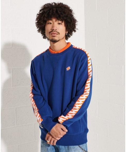 M2011428A   Code Logo Tape sweatshirt met ronde hals