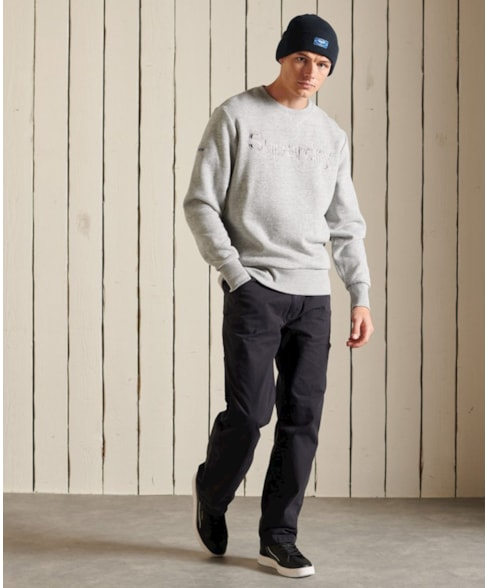 M2011467A   Source sweatshirt met ronde hals en Core-logo