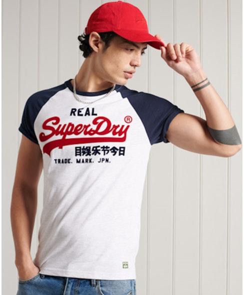 M1010998A | Superdry Vintage Logo Duo T-shirt met raglanmouwen