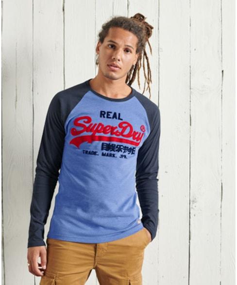 M6010456A | Superdry Vintage Logo T-shirt met lange raglanmouwen