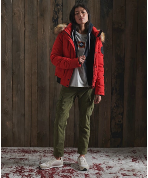 W2010442A   Superdry Orange Label hoodie met rits