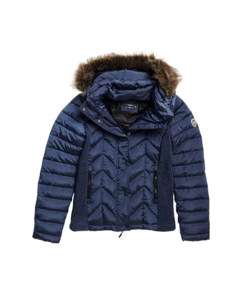 W5010271A | Luxe gewatteerde Fuji jas