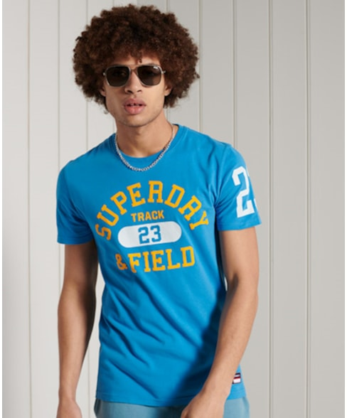 M1010846A | Superdry Lichtgewicht Track & Field T-shirt met grafische print