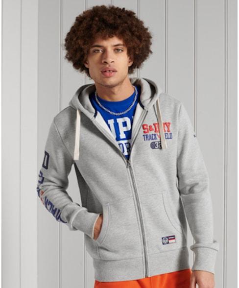 M2011003A | Superdry Track & Field hoodie met grafische print en rits