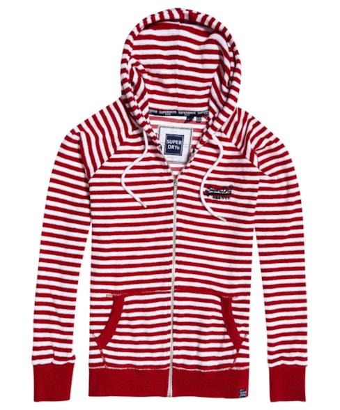 G20304ST | Superdry Ebele Stripe Zip Hoodie