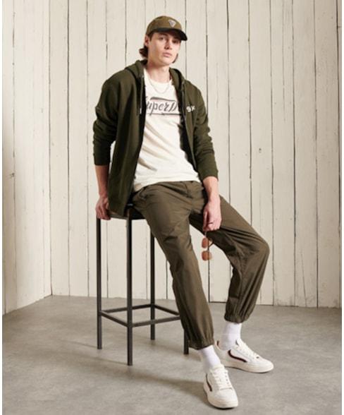M2010978A | Superdry Military hoodie met grafische opdruk en rits