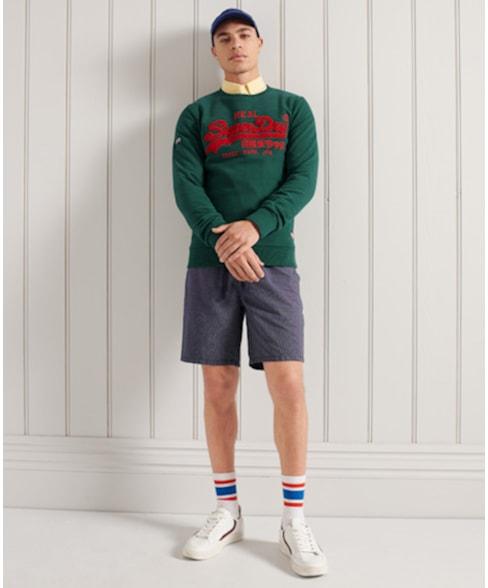 M2011141A | Superdry Chenille sweatshirt met ronde hals en Vintage Logo