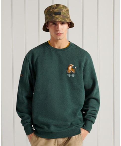 M2011013A   Superdry Military sweatshirt met ronde hals en grafische print