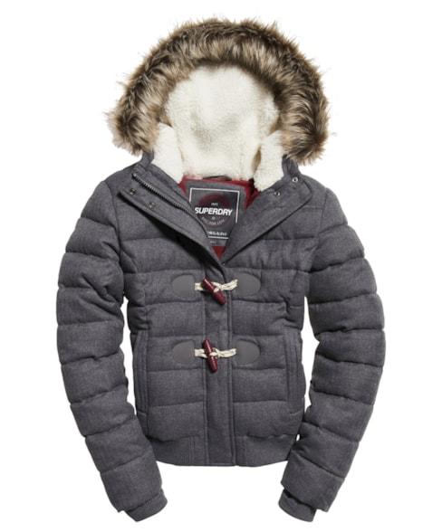 G50005CR | Superdry Marl Toggle Puffle Jacket
