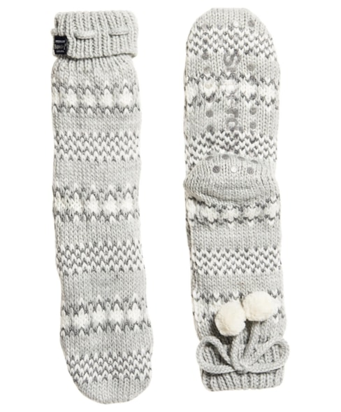 G310019LR | Superdry Sparkle Fairisle Slipper Socks