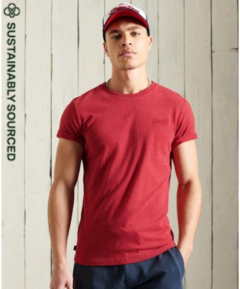 M1010222A | Superdry Vintage T-shirt met borduursel van biologisch katoen