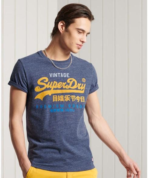 M1011003A   Superdry Vintage Logo Tri T-shirt