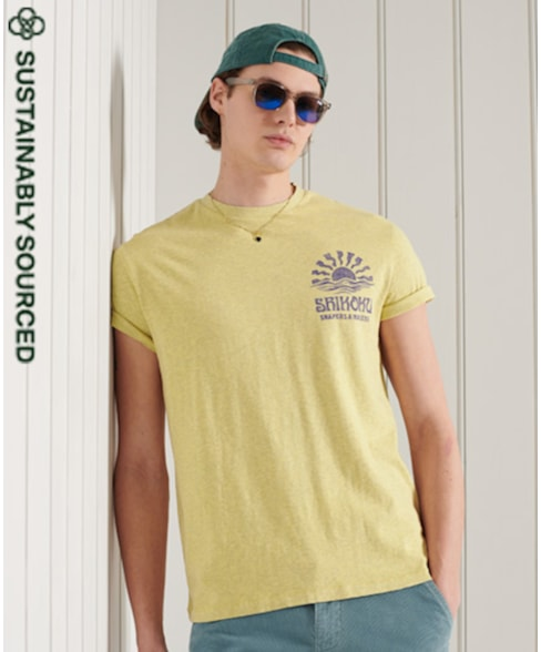 M1011012A | LA Beach Surf T-Shirt Van Biologisch Katoen