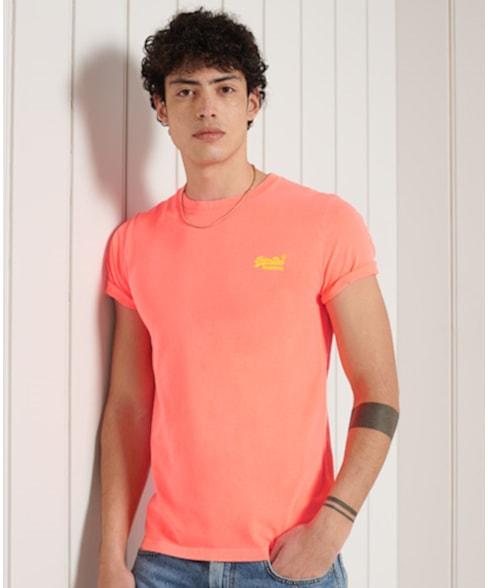 M1011251A   Superdry Orange Label Neon Lite T-shirt