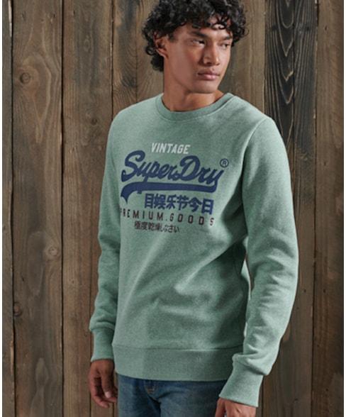 M2010420B | Vintage Logo Tri sweatshirt met ronde hals