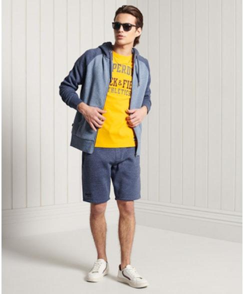 M2010997A | Superdry Klassieke Orange Label hoodie met rits en raglanmouwen