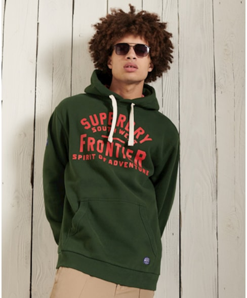 M2011023A   Superdry Heritage Mountain hoodie met grafische print