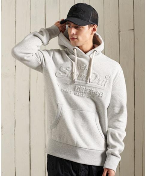 M2011137A | Vintage Logo hoodie met reliëf