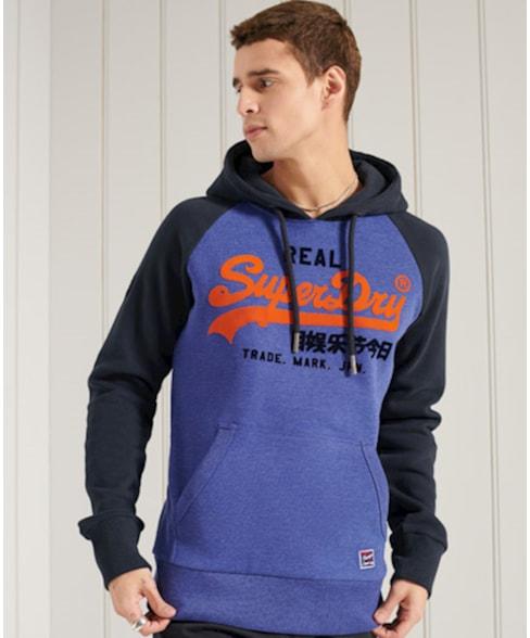 M2011143A | Superdry Vintage Logo Duo hoodie met raglanmouwen