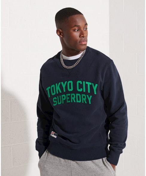 M2011721A   City College sweatshirt met ronde hals
