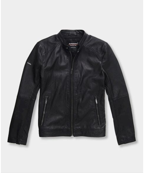 M5010011A   Superdry Hero Light Leather Racer Jacket