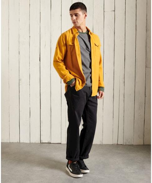 M6010382A | Superdry Orange Label Baseballshirt