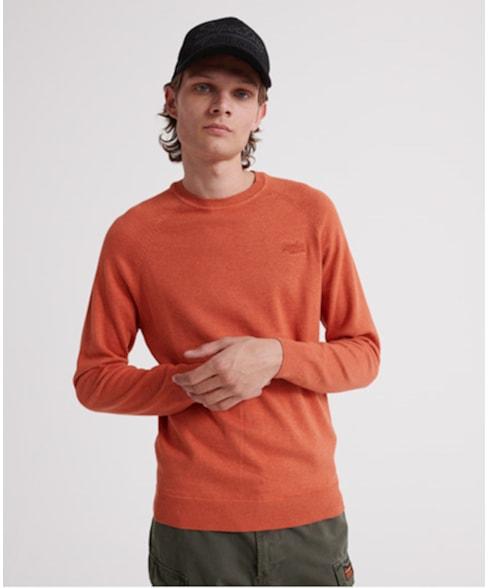 M6100025A | Orange Label Cotton trui met ronde hals