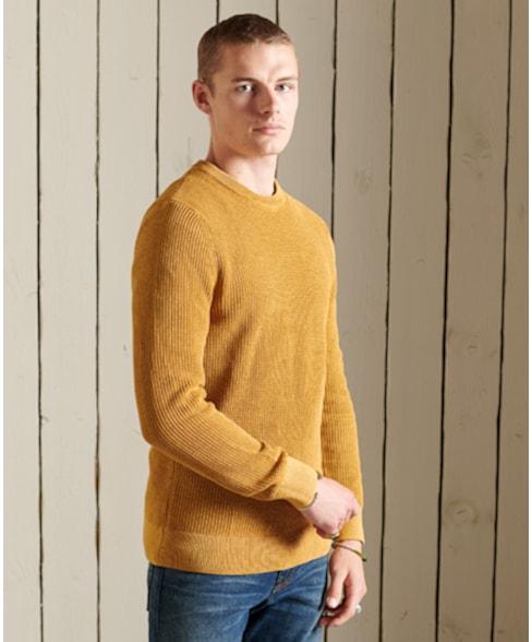 M6110283A | Geverfde Academy trui met textuur