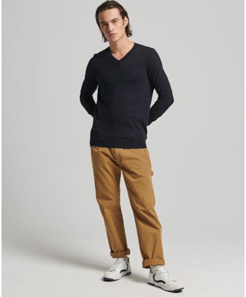 M6110292A   Vintage trui van een mix van biologisch katoen en kasjmier