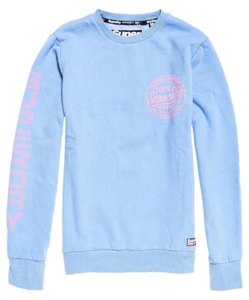 M20301TU | Superdry Pastel Ticket Type Crew Sweatshirt