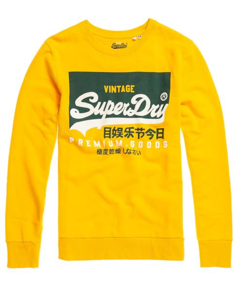 M2010213A | Superdry Organic Cotton Vintage Logo Crew Sweatshirt