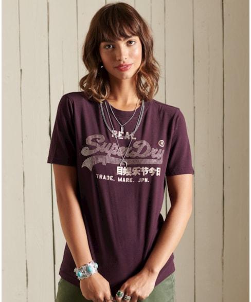W1010731A   Boho Vintage Logo T-shirt met glitter