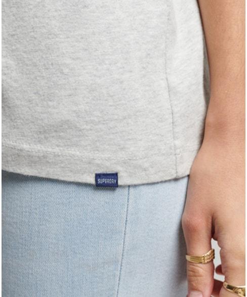 W1010689A | Vintage Logo-T-shirt van biologisch katoen