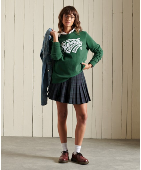 W2011090A   Script Style College sweatshirt met ronde hals