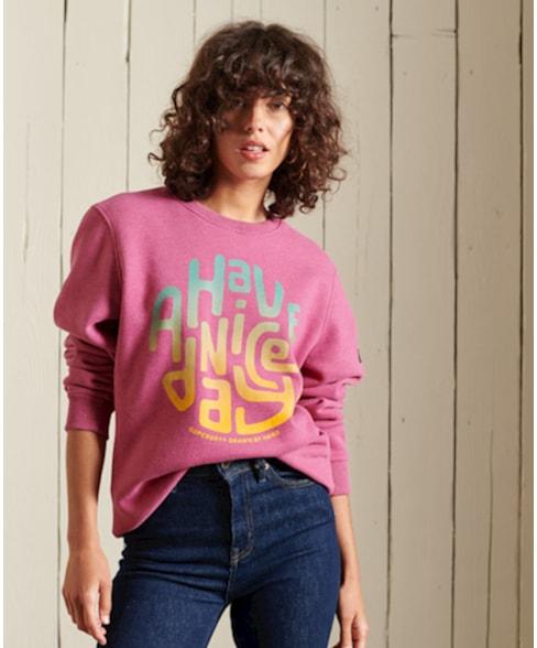 W2011107A   Heritage Mountain sweatshirt met ronde hals