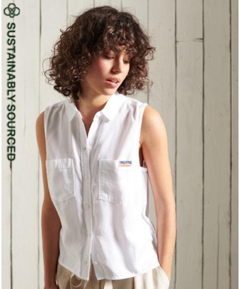 W4010147A | Superdry Overhemd zonder mouwen