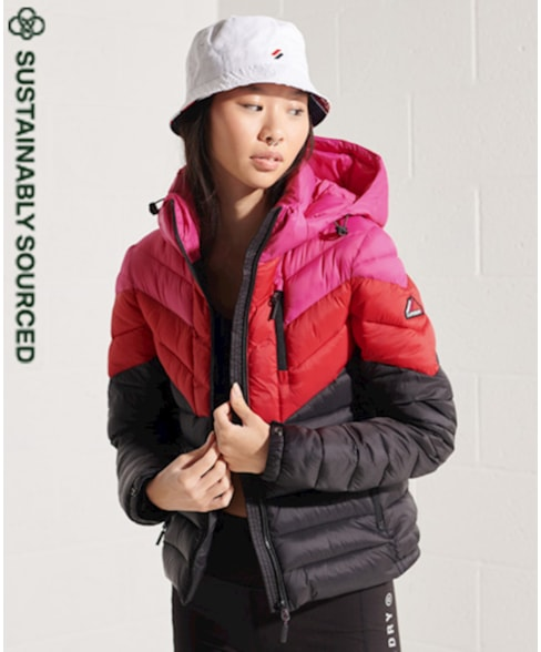 W5010412A | Fuji jas met kleurvlakken