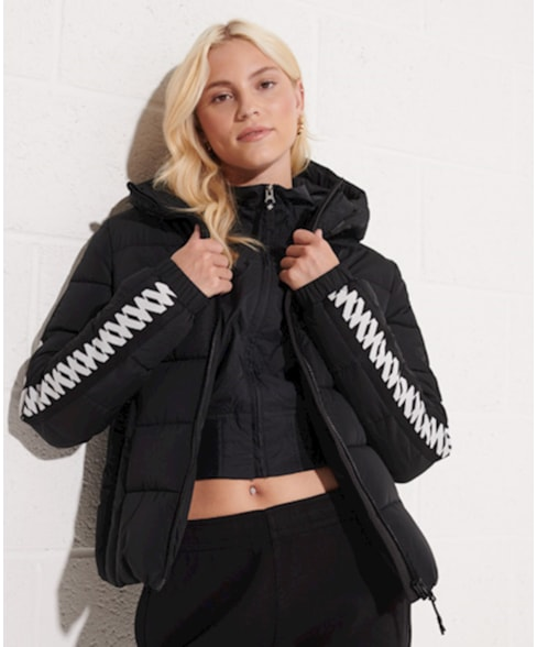W5011045A   Hooded Spirit Taped Puffer