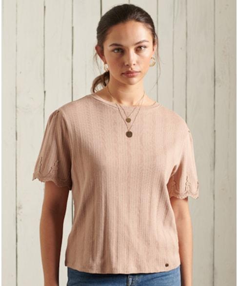 W6010814A | T-shirt met borduursel op de mouw