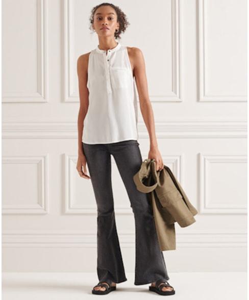 W6010839A | Superdry Mouwloze blouse van Tencel