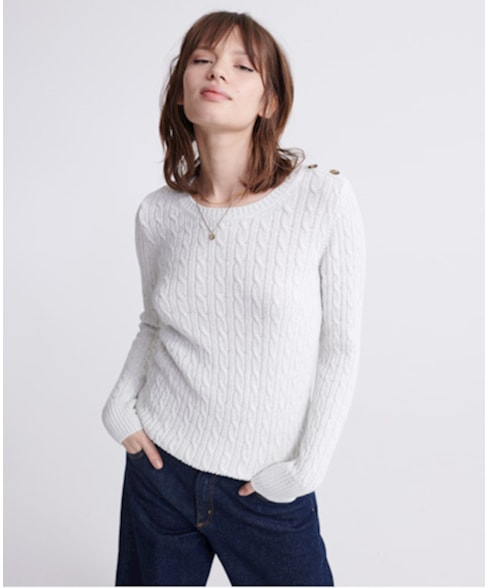 W6100007A   Superdry Croyde Cable Knit Jumper