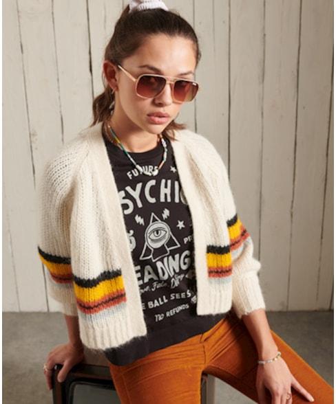 W6110233A | Gestreept vest van alpacawolmix