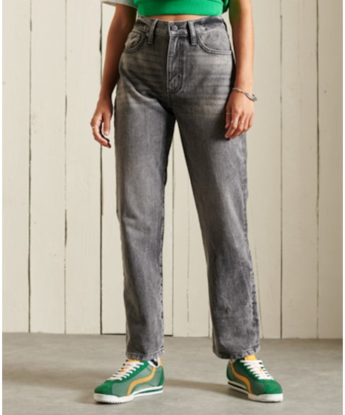 W7010605A | Rechte jeans met hoge taille
